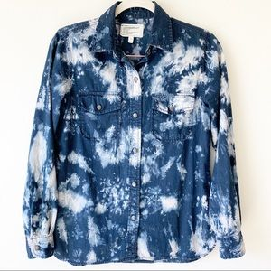 Current/Elliott The Perfect Shirt in Acid Wash 1/S